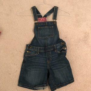 Girls Gap L denim overalls